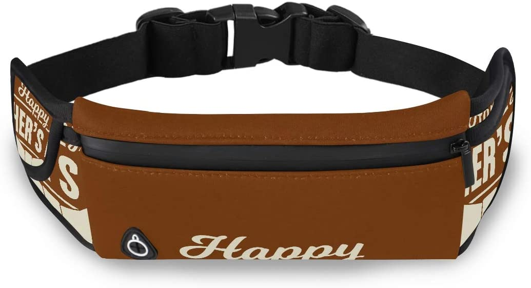 Happy Father Day Thanks Dad The Fanny Pack Mens Fashion Bag Waist Bag Pack With Adjustable Strap For Workout Traveling Running