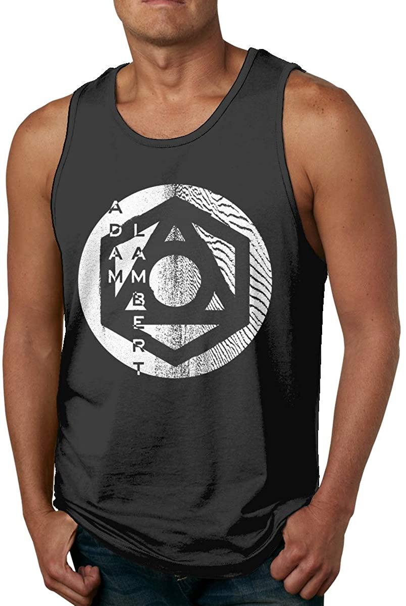 Adam Lambert Man Tank Top Shirt Round Neck Sleeveless Summer Tee Vest Tops