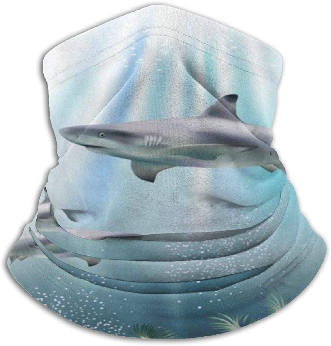Face Mask, Neck Gaiter, Ocean Two Dolphins Bandana, Balaclava Windproof,Anti Dust Magic Scarf for Women Men