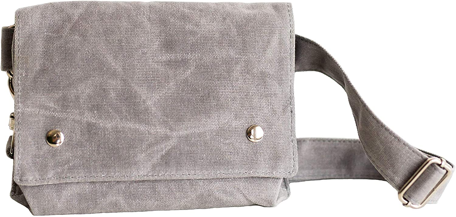 Fanny Pack, Belt Bag for Women | Stylish, Practical, Minimal Hip Bag | Fits Phone, Wallet (Light Gray)
