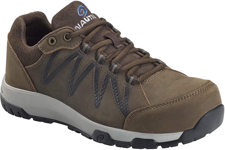 Nautilus 2491 Men's Volt Leather Slip Resistant ESD Work Shoe - Carbon Safety Toe