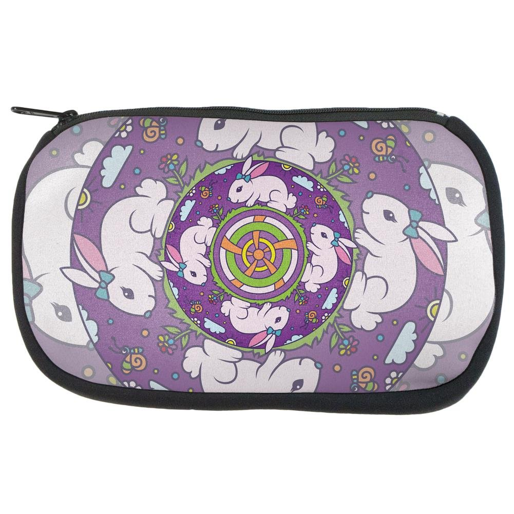 Mandala Trippy Stained Glass Easter Bunny Makeup Bag Multi Standard One Size