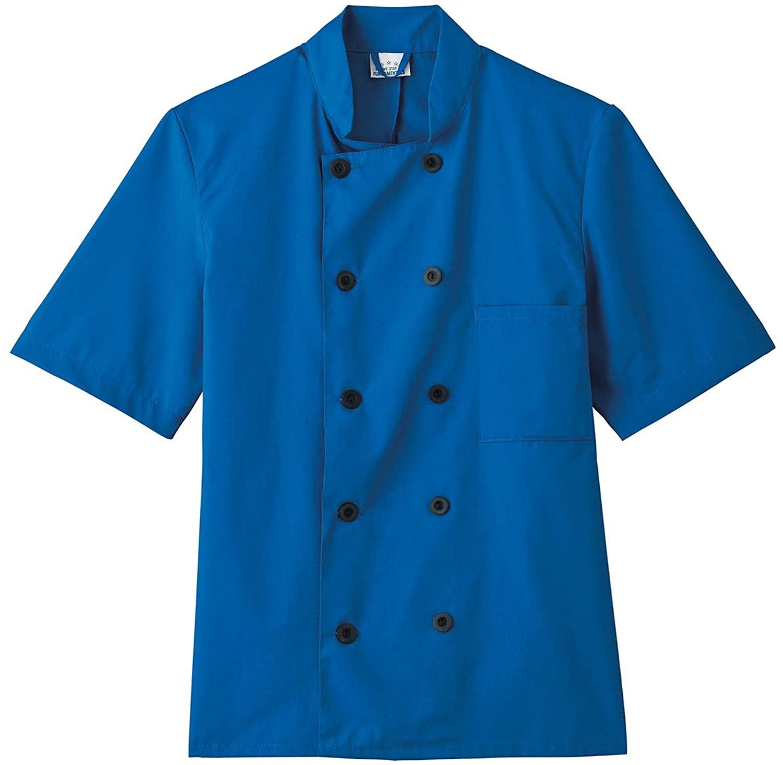 Five Star 18001/18025 Unisex Short Sleeve Chef Coat Royal 5XL