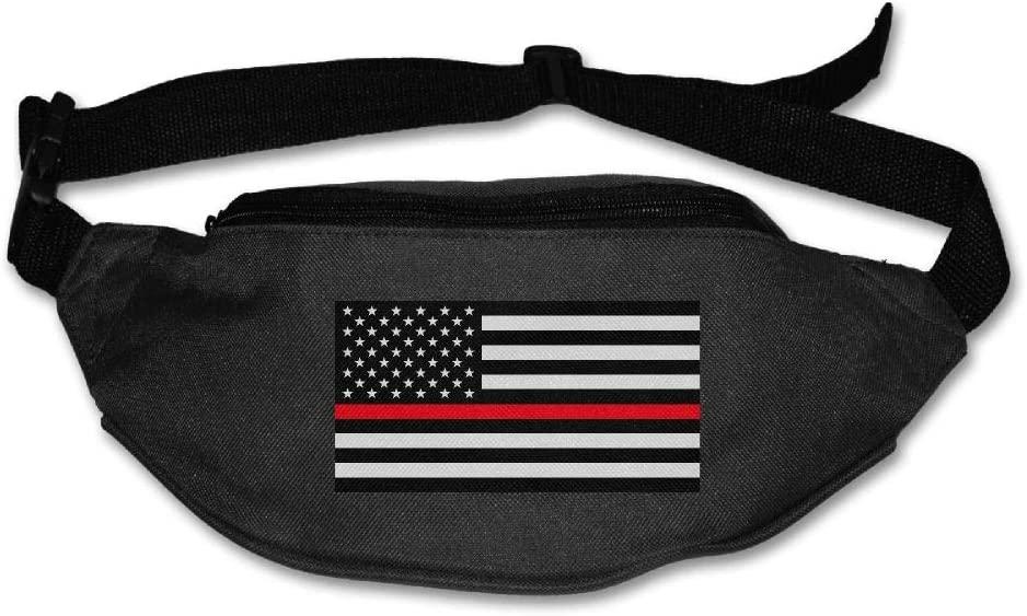 Eden Edies USA Flag Thin Red Line Unisex Waist Pack Bag Belt