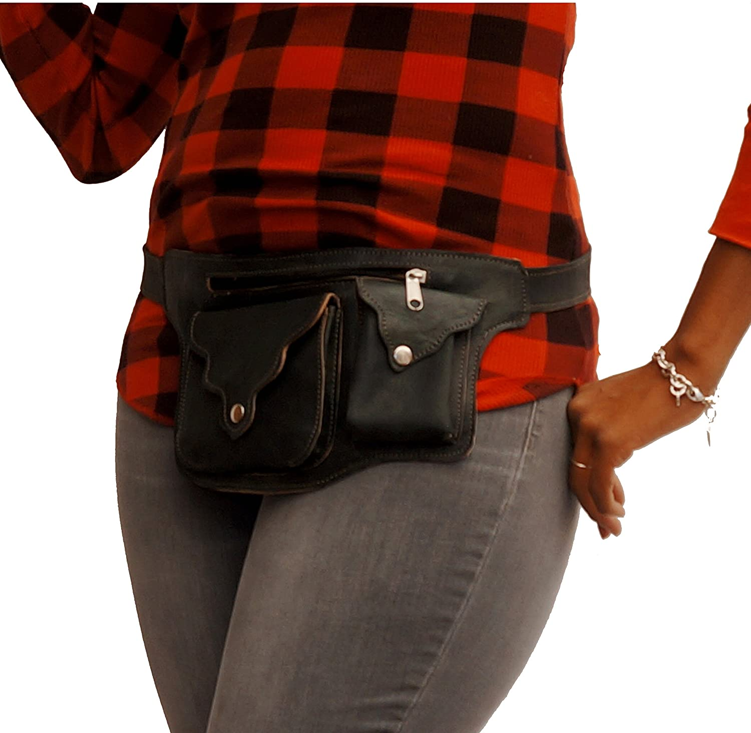 Leather Fanny Pack | Fashionable Handmade Hip Bag- Bum Belt By The Urban Turbanista