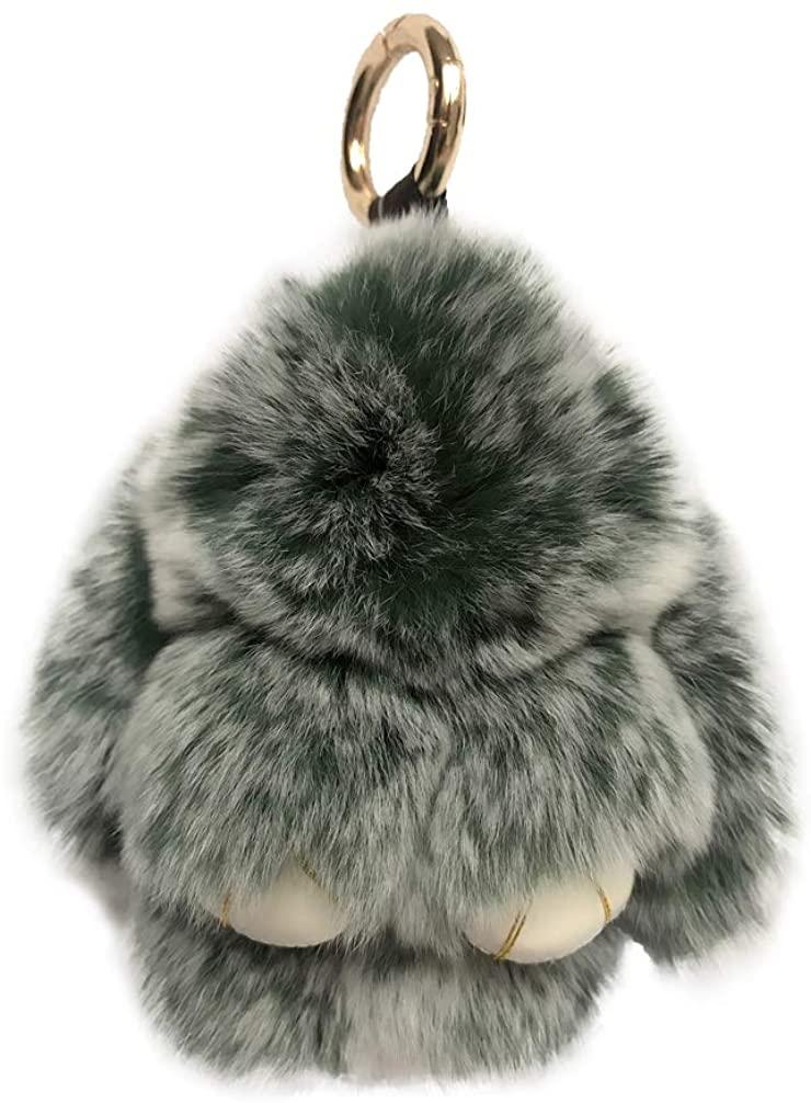 Sweet Rabbit Keychains Soft Hairy Bunny Keychain Car Pendant Shoulder Bag Keyring