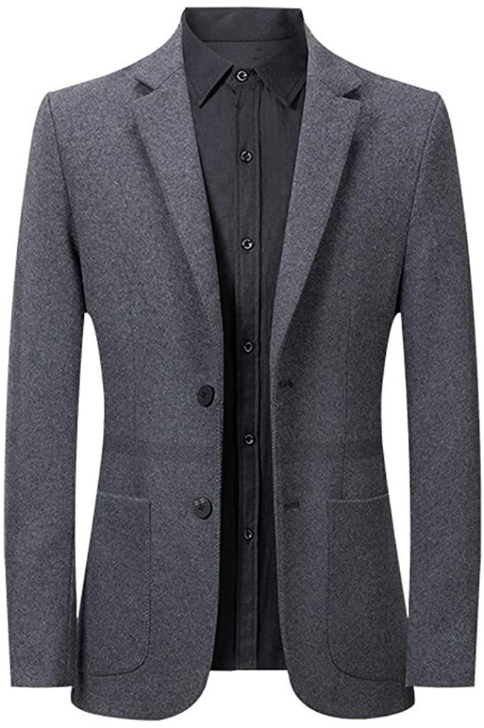 MoonHome Men's Slim Fit Casual Lightweight Sports Coats Button Blazer Coat Long Sleeve Slim Jacket Outwear