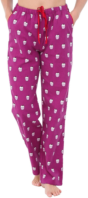 Alexander Del Rossa Women's Flannel Pajama Pants, Long Novelty Cotton Pj Bottoms