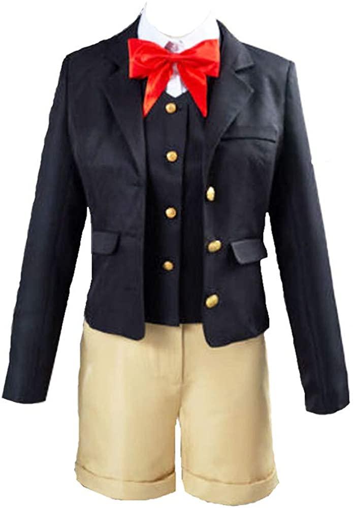 Nanrui Trade. Danganronpa Costume Yui Samidare Unisex Suit Casual Suit Denim Shorts School Uniform Halloween Costume