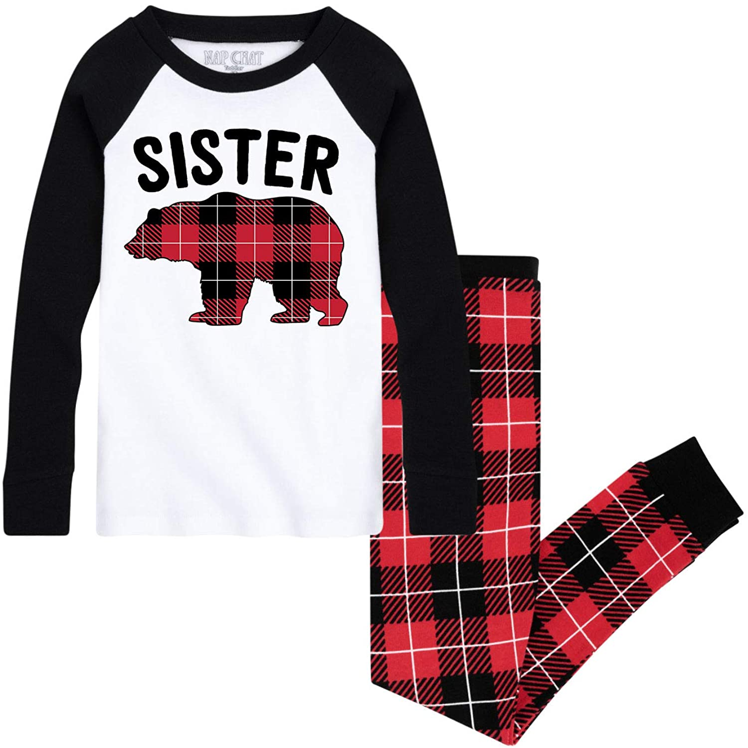 Nap Chat Sister Bear - Kids Pajama Set