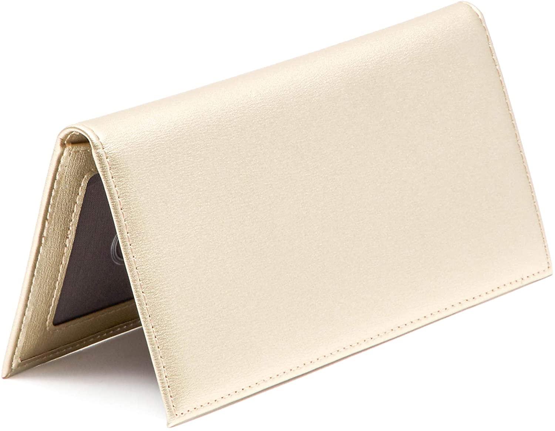 Juvale Checkbook Cover Wallet Card Holder, Gold, For Men & Women, RFID Blocking