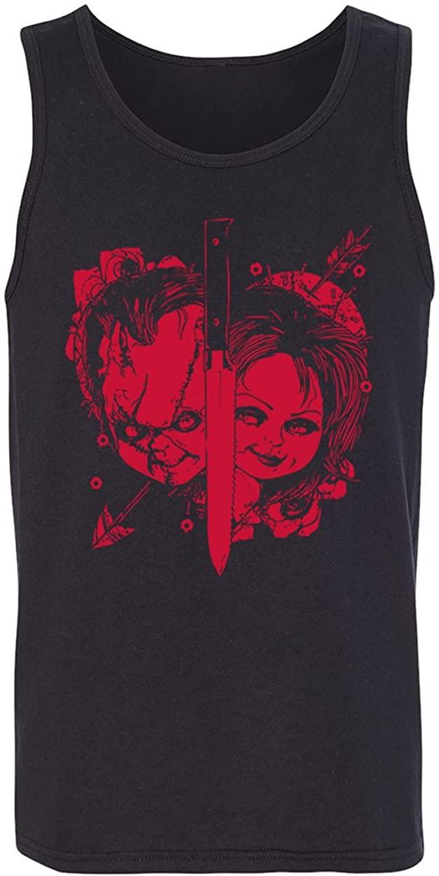RIVEBELLA New Novelty Tee Horror Movie Chuck Tank Top