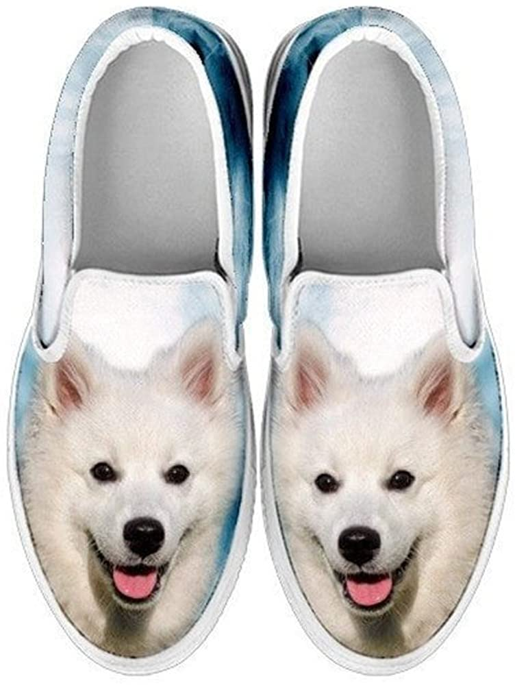 Pawlice American Eskimo Dog Print Slip Ons Shoes for Kids (for American Eskimo Dog Lovers)