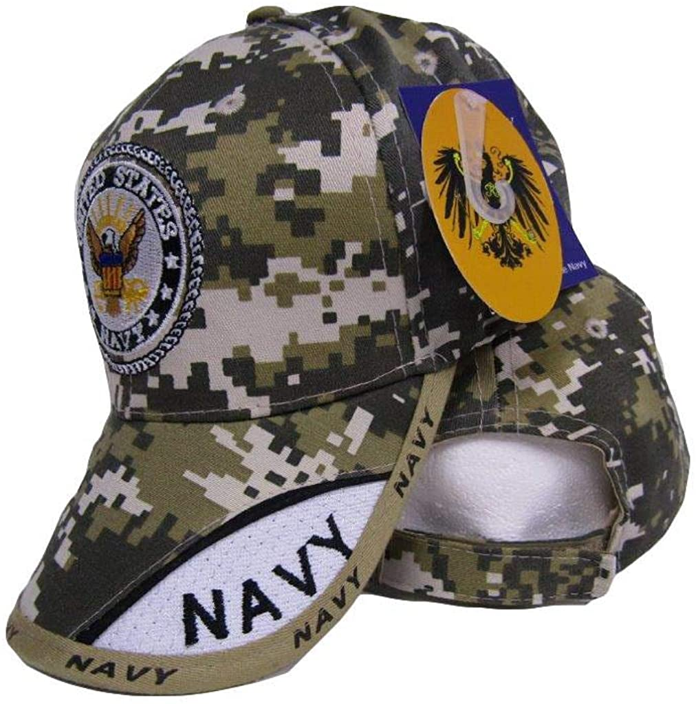 United States Navy Naval Green ACU Camo Camouflage Baseball Style Cap Hat (RUF)