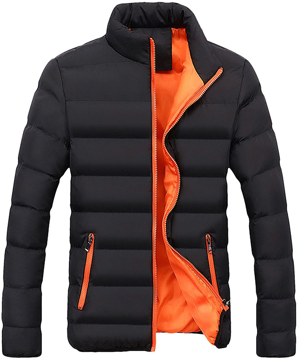 Londony ♥‿♥ Winter Coats for Men,Men's Packable Lightweight Zip Up Pockets Down Jacket Puffer Outwear