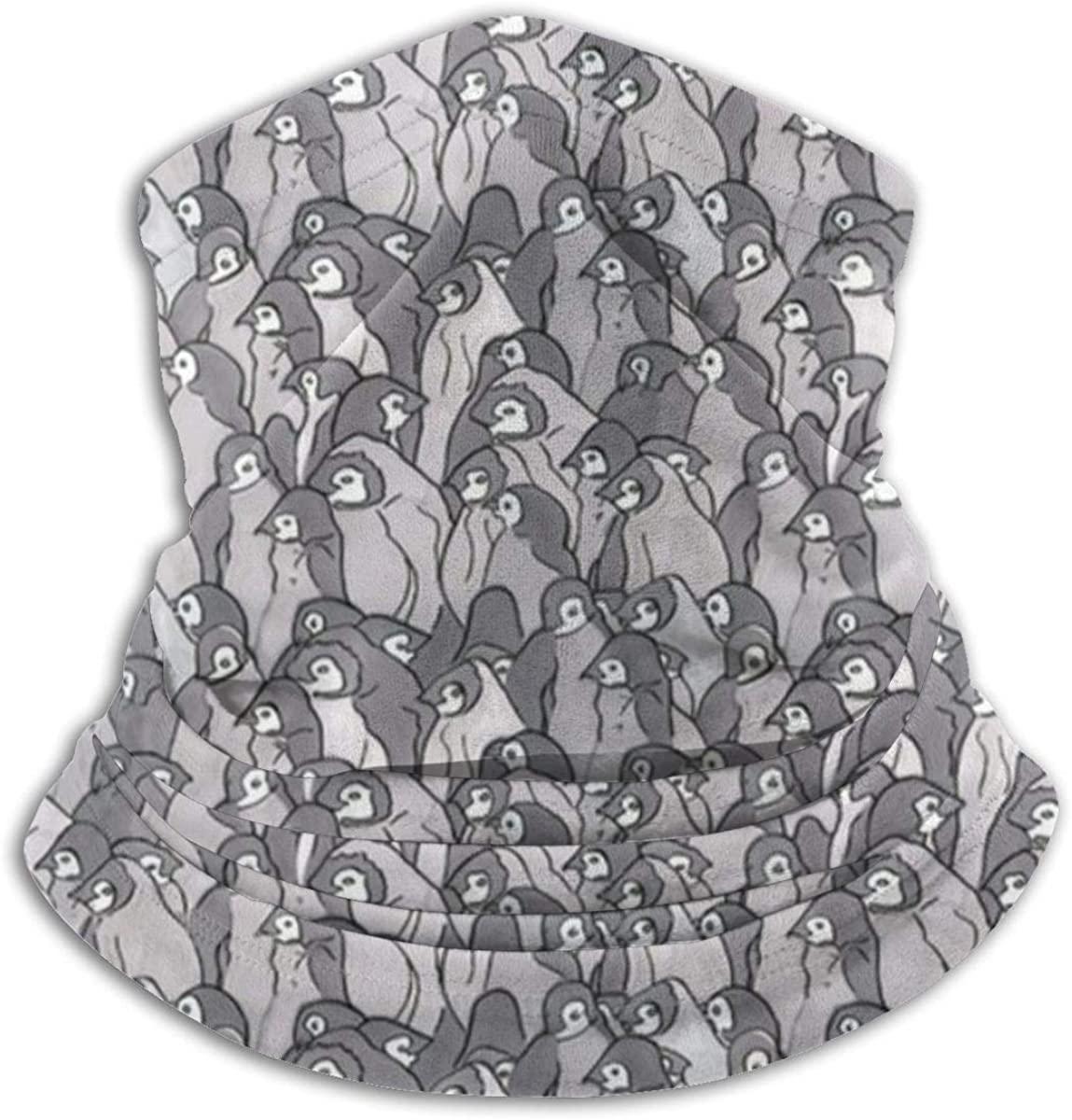 Unisex WinterCrowded Penguins Seamless Face Mask Bandanas for Dust, Outdoors, Festivals, Sports Headkerchief
