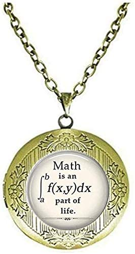 Math is an Integral Part of Life Locket Necklace, Math Locket Necklace, Math Geek Gift, Math Teacher Gift