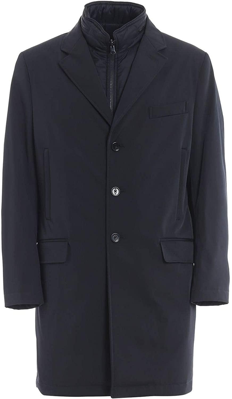 fay Luxury Fashion Man NAM5339168SCLRU807 Blue Polyester Coat   Fall Winter 19