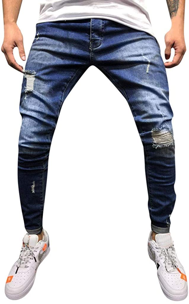 MoonHome Mens Super Comfy Straight Stretch Knit Jersey Denim Five Pocket Jean