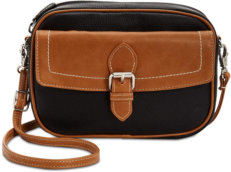 Giani Bernini Leather Convertible Fanny Pack Black