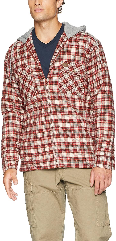 Wrangler Riggs Workwear Men's Hooded Flannel Work Jacket
