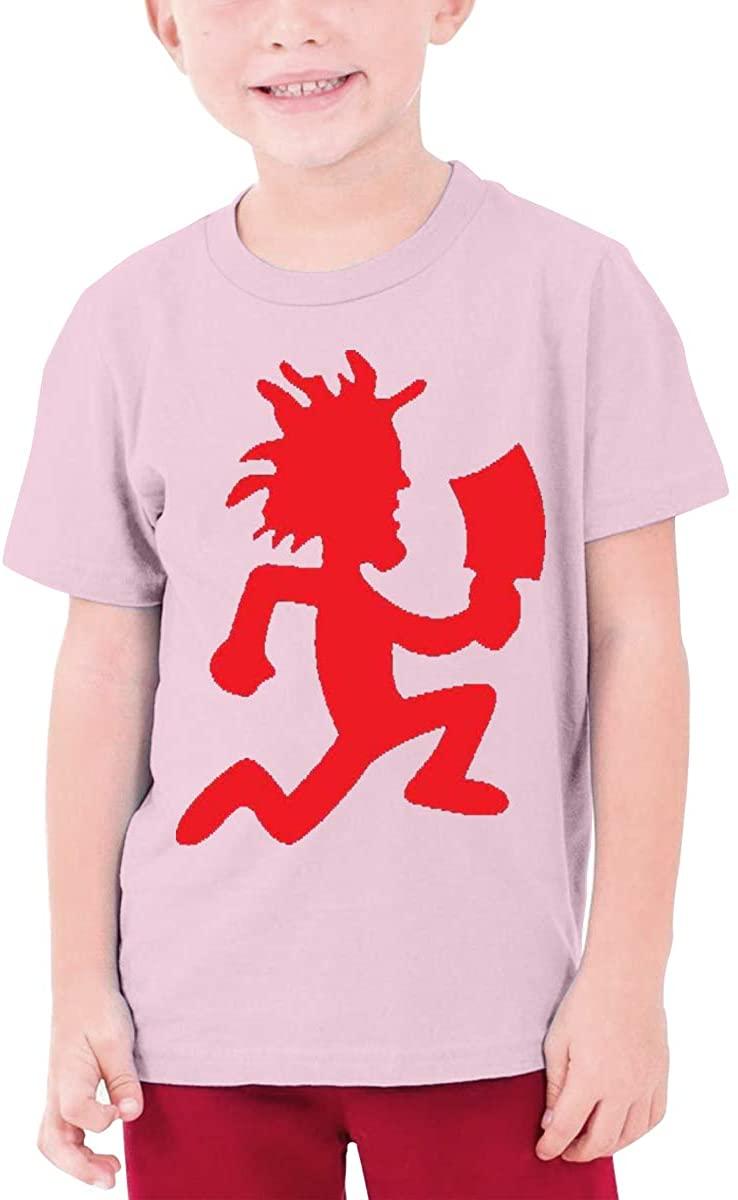 AP.Room Boys and Girls Teens Short Sleeve T-Shirt Hatchetman ICP Generous Eye-Catching Style Pink