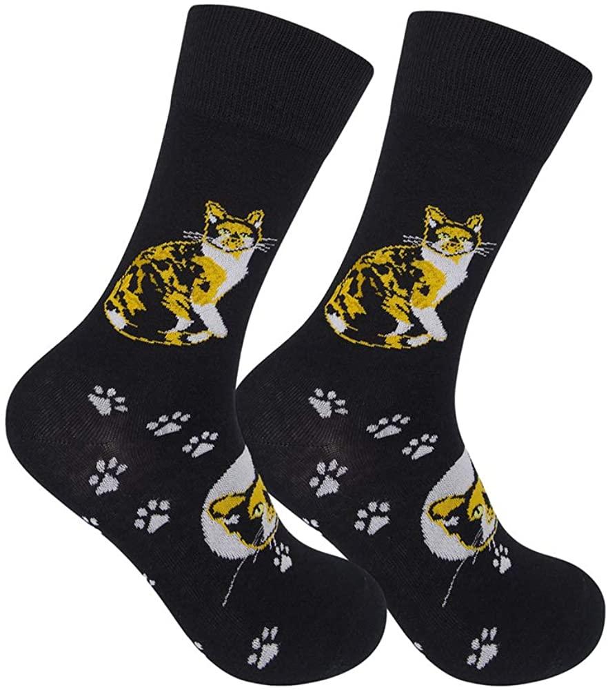 Funatic: Calico Cat Socks - For Cat and Kitten Lovers - I heart Cats - Cat Gag Gift - Funny Cat Gift - I Love Cats - Cat Novelty Gift - Cat Clothing - Cat Apparel - Cat Socks -