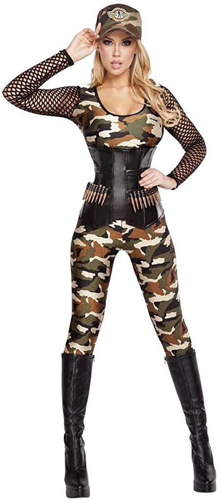 Musotica Sexy Lady Rambo Queen of The Jungle Halloween Costume