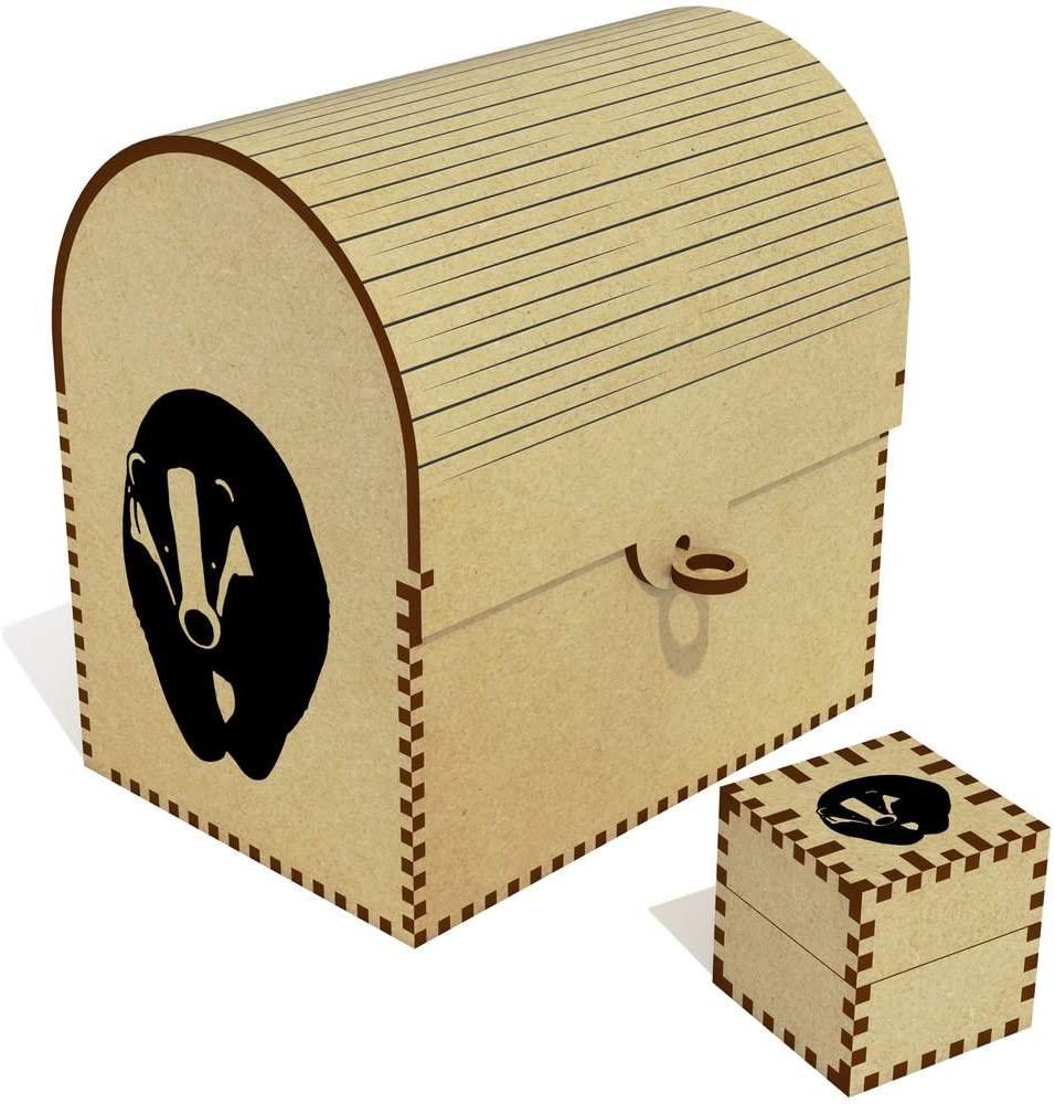 Azeeda 'Cute Badger' Treasure Chest / Jewellery Box (TC00031521)
