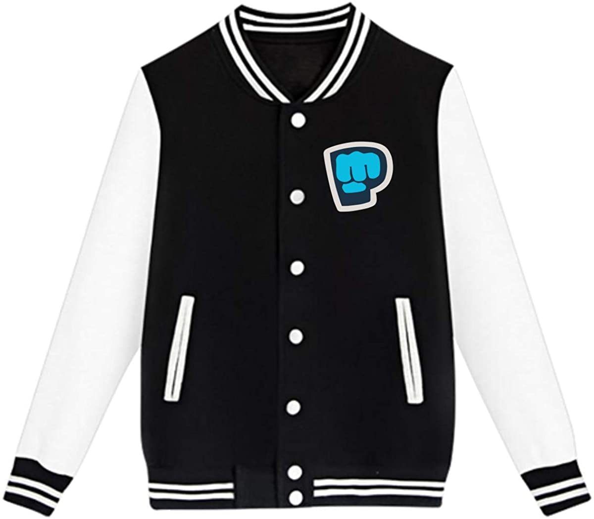 AHUAHUA Pewdiepie Unisex Youth Boys and Girls Sweatshirt Baseball Uniform Jacket Sport Coat