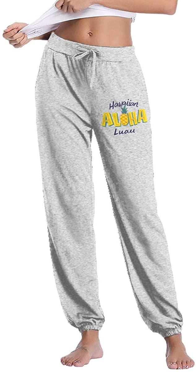 W78PANT-7 Hawaiian Luau Women's Drawstring Casual Yoga Workout Sweatpants Pants