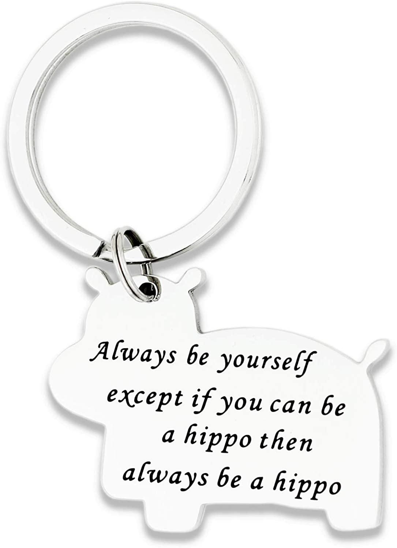Hopyee Encouragement Bracelet Keychain Saguaro Cactus Bracelet Hippo Keychain Inspirational Gift