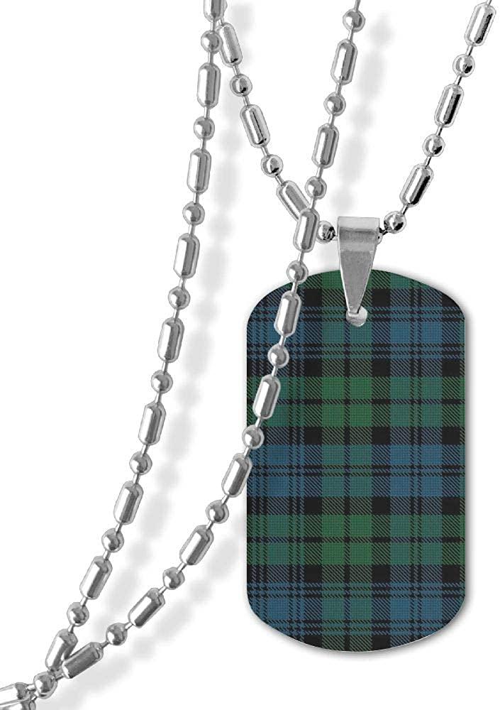 Ruin Fashion Necklaces Bufflao Plaid Pendant Necklaces