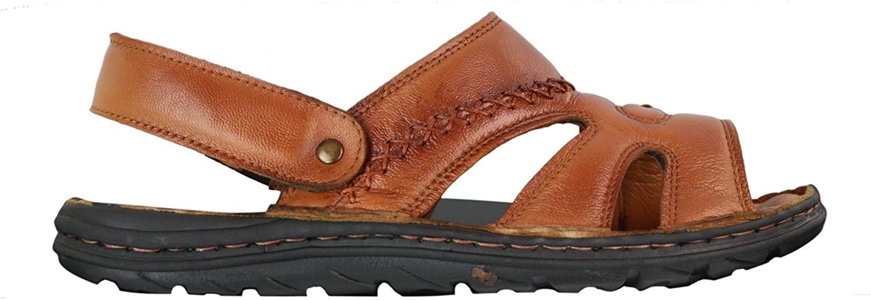 Wyndham Mens Strap Real Leather Walking Mules Slip On Sandals Premium Comfort Waterproof