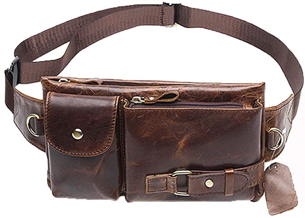 Men Casual Waist Pack Male Bag Genue Lear Shoulder Men Belt Bag Pouch Mey Phe