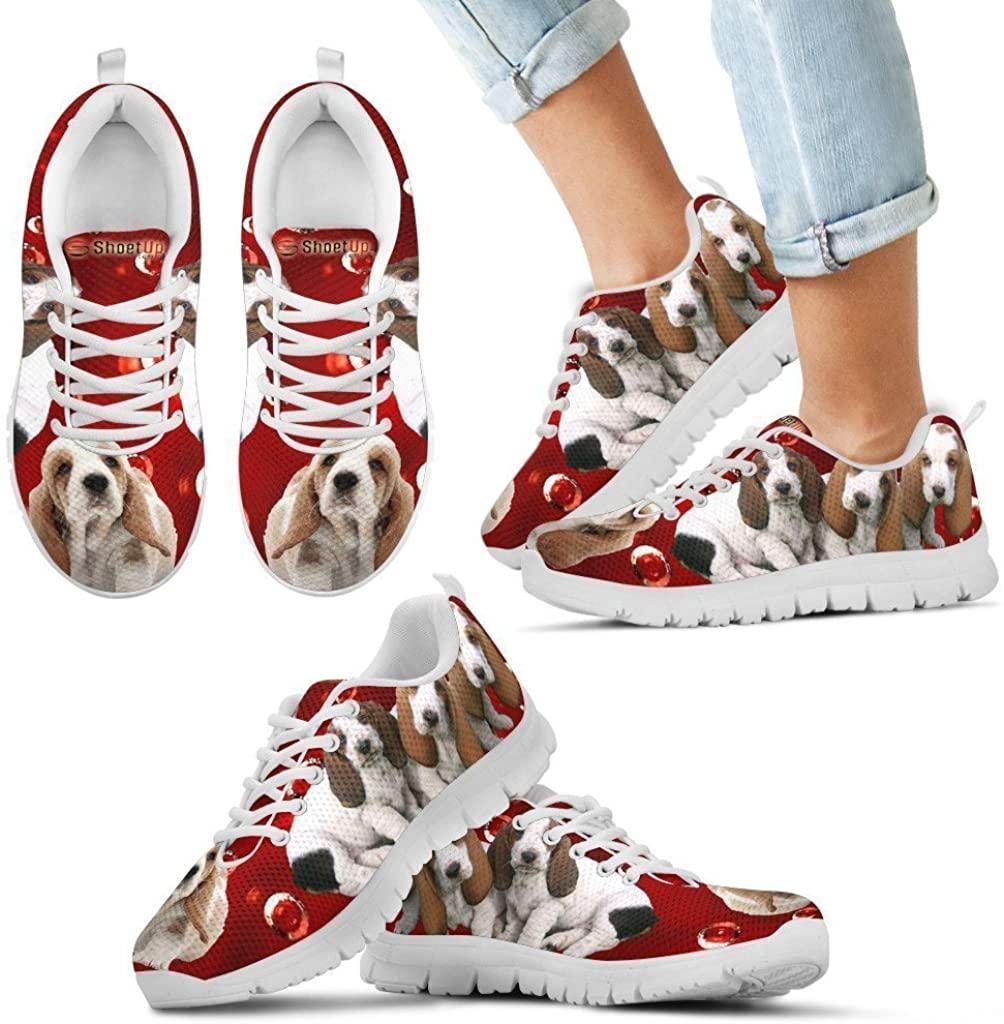 Pet Animal Designs Basset Hound Print-Kid's Running Shoes