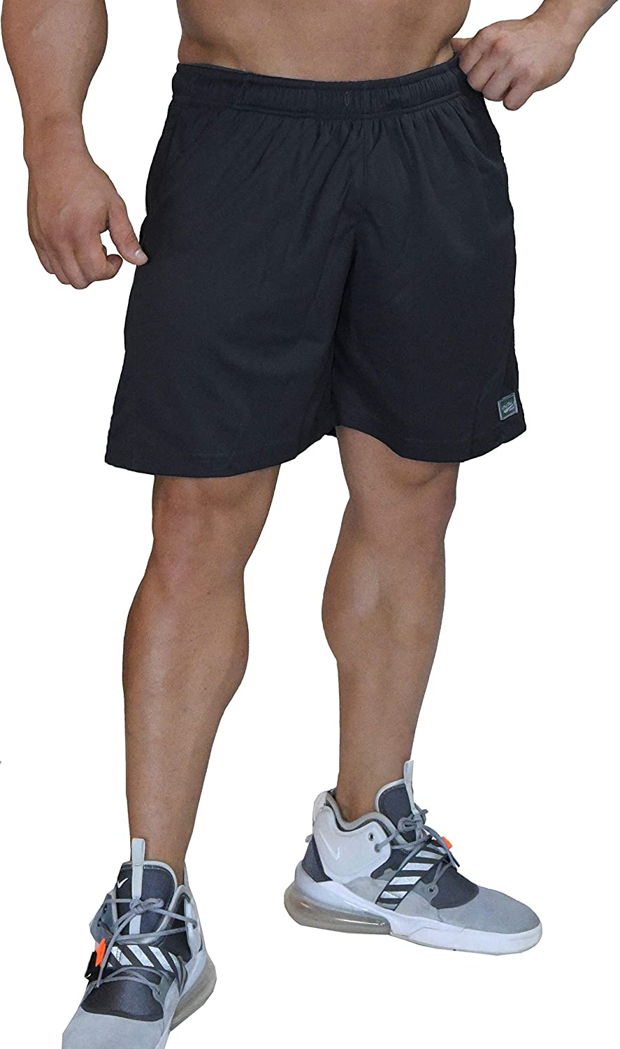 Relaxed Fit Black Microfiber Dri-Fit Shorts