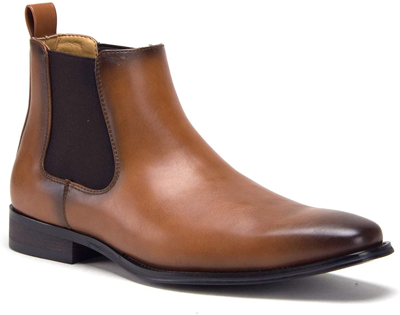 Jazame Men's E-621 Ankle High Slip On Chelsea Designer Fashion Dress Boots
