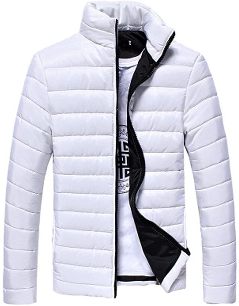 Down Jacket Men, NRUTUP Warm Padded Winter Coat, Lightweight Jacket, Active Smart Warm Overcoat Outwear