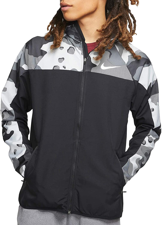 Nike Mens Flex Full Zip Jackets Camo Bv4492-010