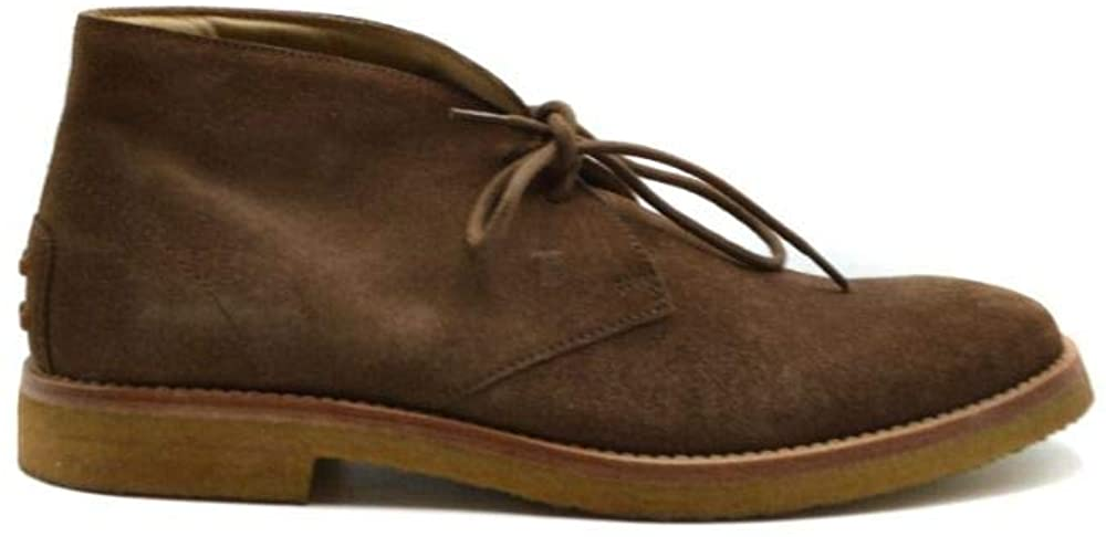 Tod's Luxury Fashion Man MCBI39531 Brown Suede Ankle Boots   Season Outlet