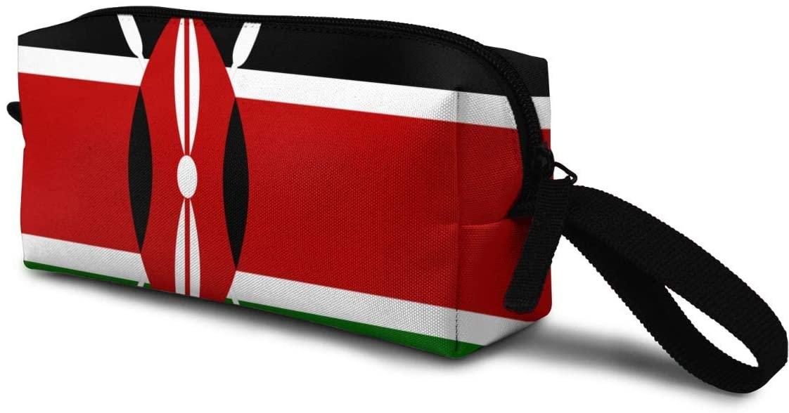 T-JH Kenya Flag Mini Makeup Bag,Portable Cosmetic Bag,Organizer,Toiletry Handbag,Storage Capacity Bags,Storage Pouch for Women Purse