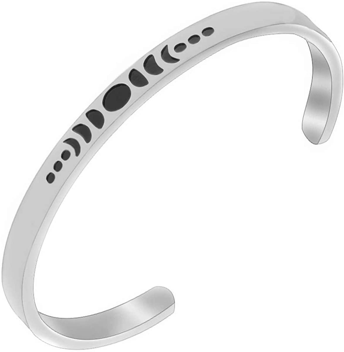 AZFEIYA Moon Phases Bracelet Moon Phase Jewelry Triple Goddess Jewelry Crescent Moon Bracelet Gift for Women