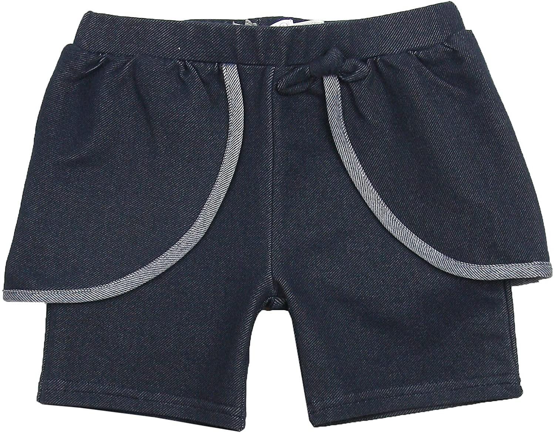 Deux par Deux Girls' Jegging Shorts Navy, Sizes 2-12