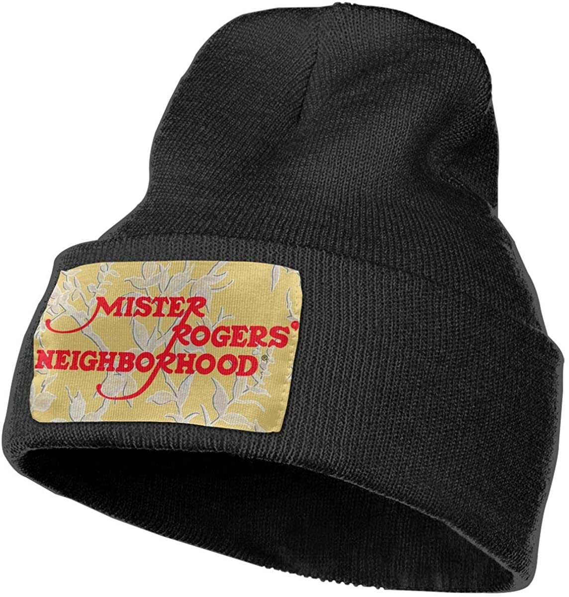 Mister Ro-gers Unisex Fall Winter Warm Knit Cap Beanie Hat Stretchy Ski Cap, 18x30 cm Black