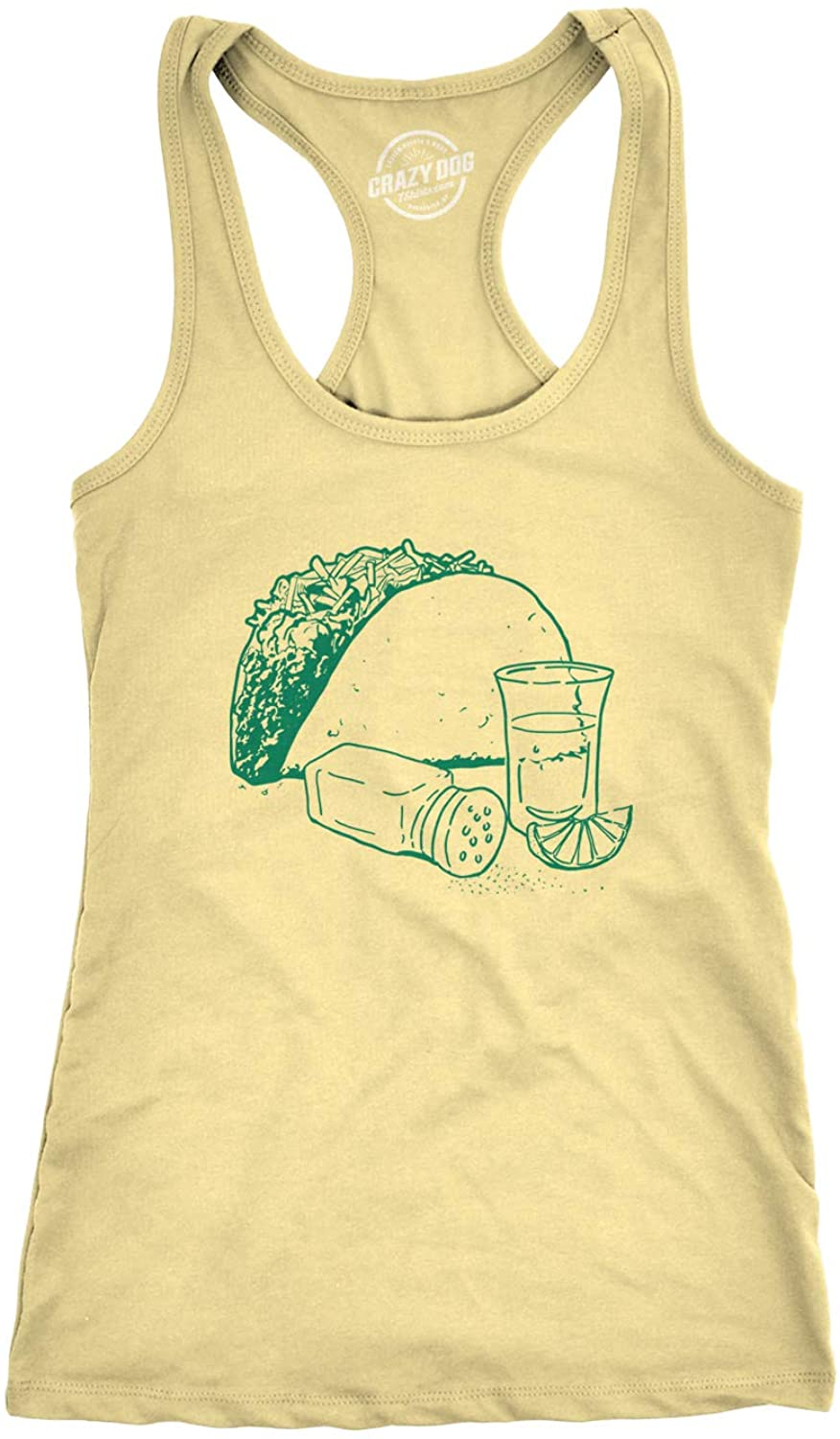Womens Taco and Tequila Sketch Funny Workout Shirts Novelty Sleeveless Fitness Tank Top