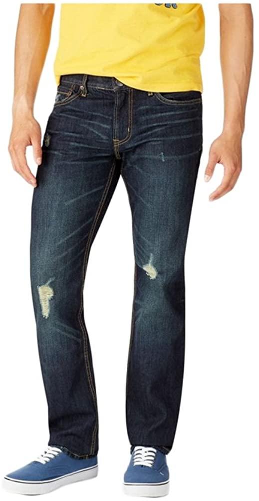 Aeropostale Mens Bowery Slim Straight Leg Jeans