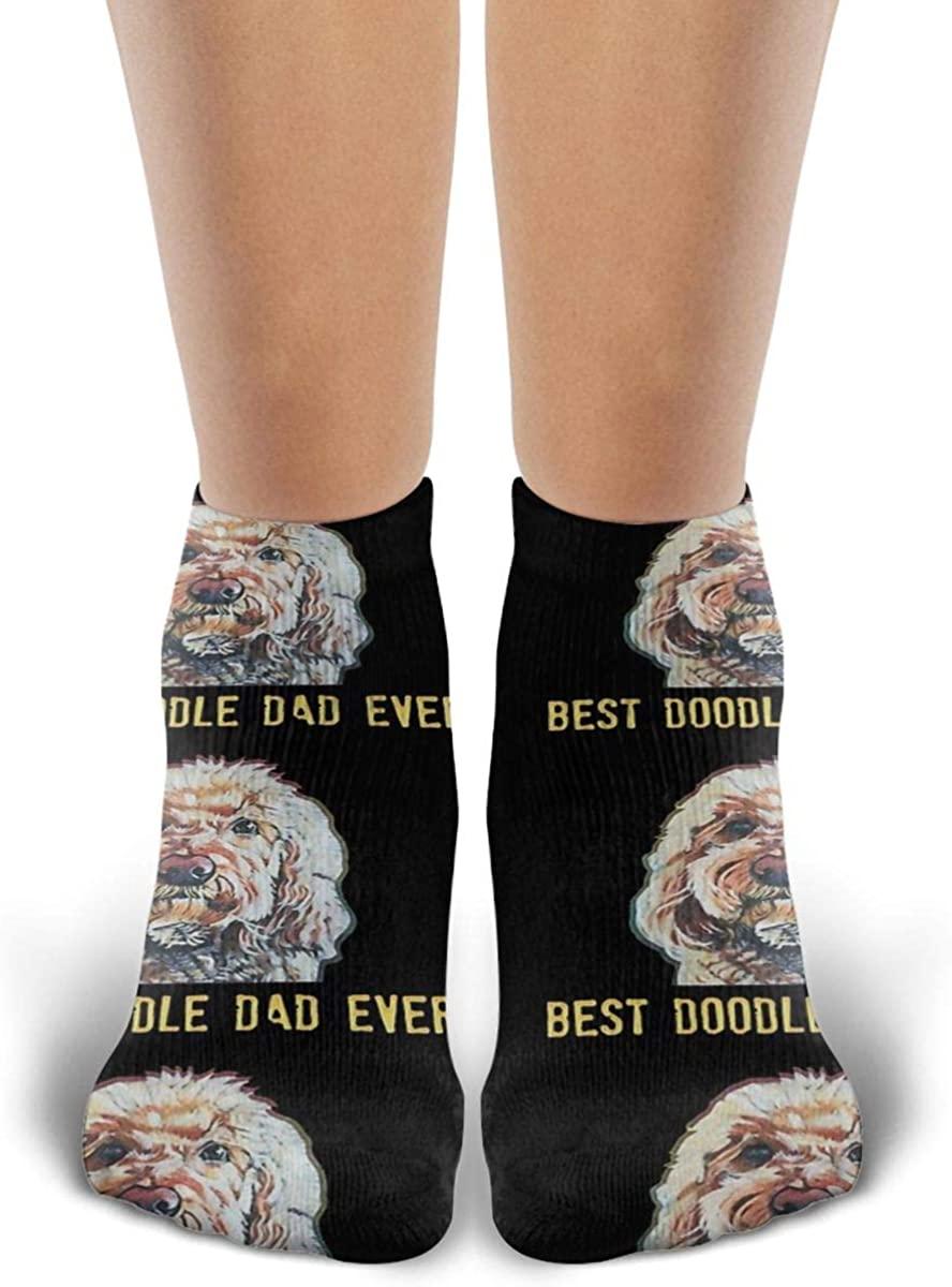 Unisex Best Doodle Dad Ever Socks Fashion Ankle Socks Casual Funny Socks Sports Socks For Men Womens