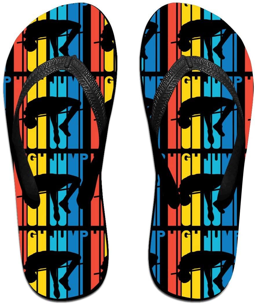 LzVong Retro Style High Jump Flip Flops Beach Slippers Flat Sandals