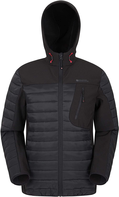 Mountain Warehouse Mens Padded Softshell - Lightweight Shell Jacket